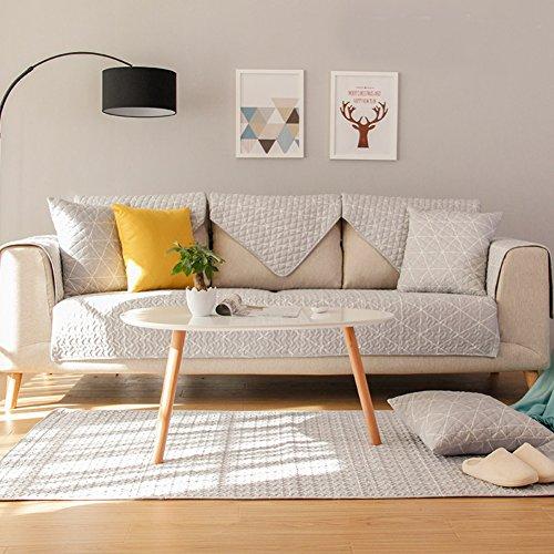 Kid Love Funda de sofá de tela de algodón para cuatro estaciones, simple, moderna, para sofá o sala de estar, 1 unidad, G, 90x90cm(35x35inch)