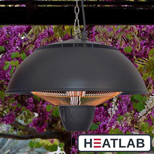 Firefly 1.500 Watt Infrarot-Heizstrahler (Halogen) Terrassenheizung, Deckenmontage, schwarz