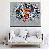 RQJOPE Dekorative Malerei 3D Kunst Poster Schlange Tier