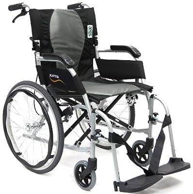 Karman Ergonomic Wheelchair Ergo Flight in 18 inch Seat, Pearl Silver Frame