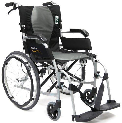 "Karman Healthcare Karman Ergonomic Wheelchair Ergo Flight in 6 inch Seat, Frame, Pearl Silver, 16"" x 17"", 1 Count"
