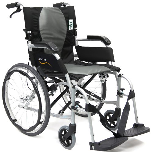 Karman Healthcare Karman Ergonomic Wheelchair Ergo Flight in 6 inch Seat, Frame, Pearl Silver, 16' x 17', 1 Count