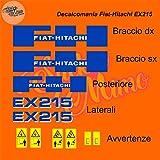 Juego de adhesivos para Fiat Hitachi cortados individualmente y compatibles con kit de adhesivos para tractores