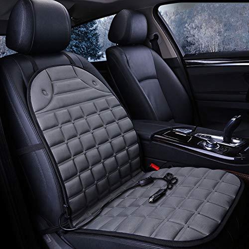 GCDN Cojín térmico para Asiento de automóvil - Calentador de Asiento de automóvil Universal de 12 V, Temperatura Ajustable de 25 ° - 60 °, Almohadilla térmica para Respaldo y Asiento completos
