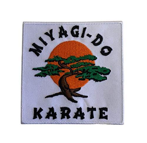 Gemelolandia | Cobra Kai Miyagi Do Karate zum Aufbügeln, 8 cm, sehr haftend, zum Dekorieren Ihrer Kleidung, einfach auf Jacken, Hosen, Hemden und Stoffobjekten anzubringen.