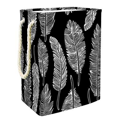 Vito546rton Boho Bohemia - Cestas para la colada, color negro y blanco, plegable, para adultos, niños, adolescentes, niñas en el dormitorio, cuarto de baño, 49 x 30 x 40 cm