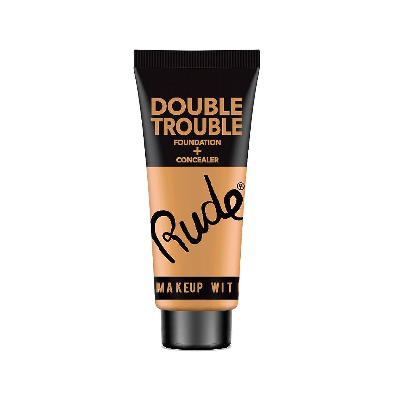 はず国民投票おとなしいRUDE Double Trouble Foundation + Concealer - Warm Natural (並行輸入品)