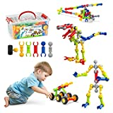 STEM Building Toys, Dlordy 125 Pcs Building Blocks for Kids Educational Construction Set Engineering DIY Learning Toys Creative & Fun Great Gifts for Ages 3 4 5 6 7 8 9 10 Year Old Boys Girls