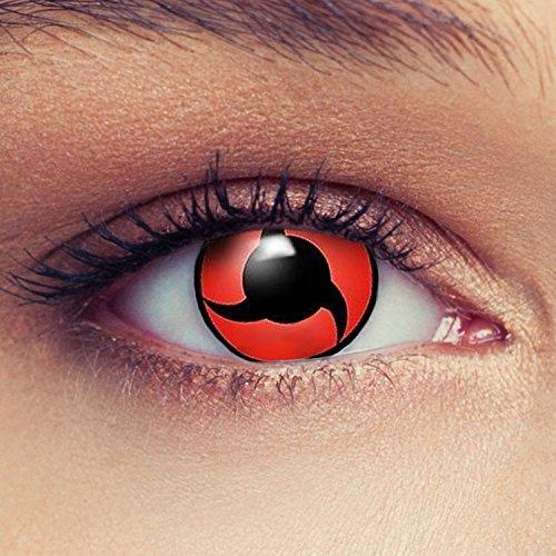 Rote farbige Kontaktlinsen für Naruto Sharingan Itachi Cosplay Farblisnen in rot Design: Naruto 2