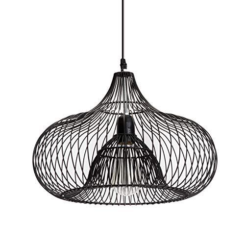 Luminaire Charlotte, suspension métal, 40 W, noir, ø 35 x H 25 cm