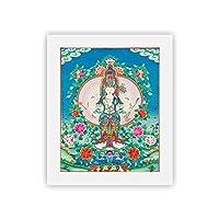 ポスター チベットタンカ宗教仏像Ga Muni Buddha Muralsフレームレス絵画 MDYJP (Color : 01, Size (Inch) : 20x25cm No frame)