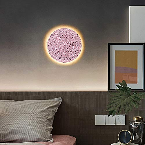 WHSS Luces de Pared Terrazzo Lámpara De Pared Simple Diámetro 16 Cm/Diámetro 25 Cm Escaleras Pasillo Cama Estudio Estudio (Color : Pink, Size : Diameter 16cm)