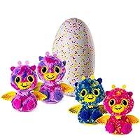 hatchimals matrimoniali: per la prima volta in assoluto, ogni uovo ha 2 hatchimals all'interno! sperimentare la loro botola magica, quindi sollevare e la cura per i vostri gemelli! questi hatchimals condividono un legame speciale - dice l'altro barze...