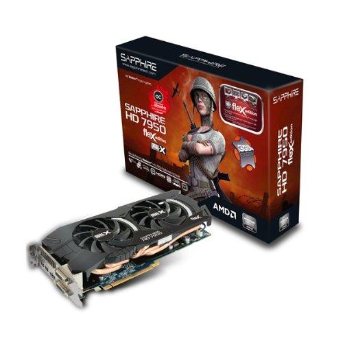 Sapphire AMD Radeon FleX HD 7950 OC 3GB GDDR5 2DVI/HDMI/2Mini DisplayPort PCI-Express Video Card 11196-17-40G