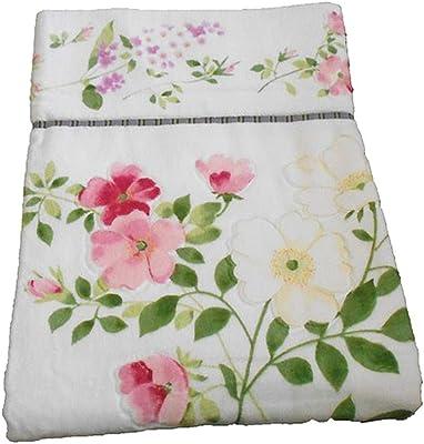 大きな花柄の今治タオルケット ジャガード織 厚手タオルケット ピンク 日本製