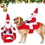 Traje de Perro Santa,Disfraz De Navidad para Mascotas,Navidad Ropa para Mascotas,Santa Navidad Perro Disfraces, Disfraz de Gato Navidad,Disfraces de Navidad Perro,Santa Disfraz para Perros (M)