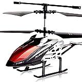 MUMUMI Helicóptero teledirigido Juguetes giroscopio Sistema de estabilización de Interior/Exterior Avión RC con luz LED, incorporada 3.5 CH Gyro RC Aviones Anti-colisión, Regalo de cumpleaños de AVI