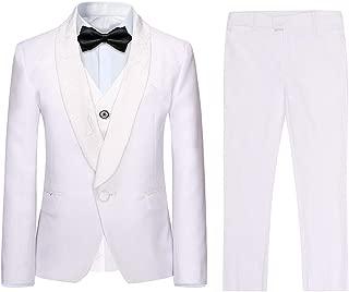 Baby /& Garçons Formel Smoking Queue Costume en blanc baptême baptême Pageboy Outfit