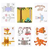 Tomaibaby 1 Juego de Papel 3D Artesanía Animal Origami Papel Plegable Papel Manualidades para Niños Pequeños Juguetes Artísticos para Niños Adultos