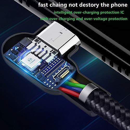 Mcdodo 90 Grad Micro USB Kabel rechtwinklig 2A High Speed Android Ladegerät Kabel Daten Sync Ladekabel Kompatibel with Galaxy S6 / S7 / S4 / S3 Huawei(1.2m)