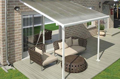 Hochwertige ALU Terrassenüberdachung/Veranda - 300 x 300 (BxT) / Überdachung Palram Feria Weiß