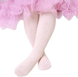 Ehdching Children Black Cotton Sparkly Baby Girls Glitter Pantyhose Stockings Tights for Baby Girls Kids