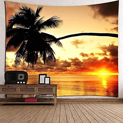 Tapiz para colgar en la pared de la serie de paisaje marino India cuadrado toalla de playa etiqueta de pared Yoga pared dormitorio decoración del hogar 150* 200 cm
