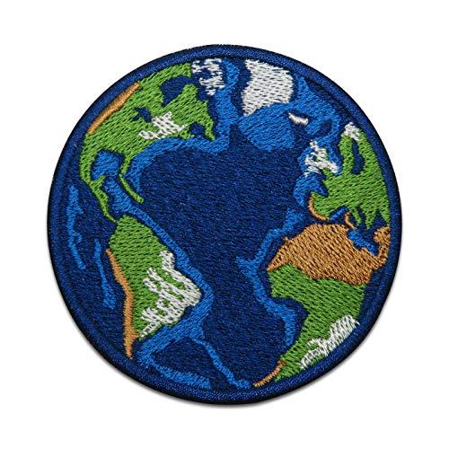 Finally Home Erde Weltkugel Patch zum Aufbügeln | Umwelt Klima Patches, Bügelflicken, Flicken, Aufnäher