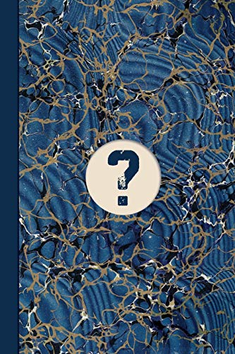 Monogram Symbol Question Mark Mystery Marble Notebook (Blue Ginger Edition): Blank Lined Journal for Writing Notes, Queries, Secrets, Passwords, and ... Crosswords, Wordsearch, and Sudoku Problems