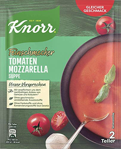 Knorr Feinschmecker Tomaten Mozzarella Suppe, 2 Teller