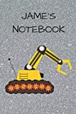 Jame's  Notebook: Funny Digger  Writing 120 pages Notebook Journal -  Small Lined  (6' x 9' )
