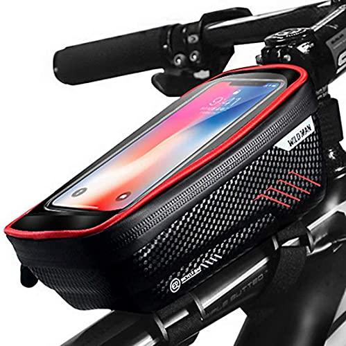 W.Proof - Bolsa de teléfono con pantalla táctil de hasta 6,5 pulgadas, almacenamiento para scooter y accesorios de bicicleta