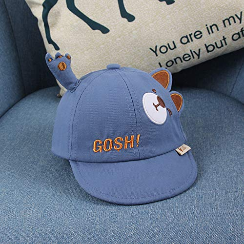 wtnhz Fashion items All-match cute cartoon bear soft brim caps Korean style toddler hats