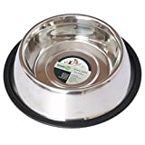 Iconic Pet 8 oz/ 1 Cup Stainless Steel Non Skid Pet Food/Water Bowl with Rubber Ring - Rust Free, Dog/Cat Feeding Bowl is Dishwasher Safe, Noise Free, Anti Skid & Stable Kitten/Puppy Dish