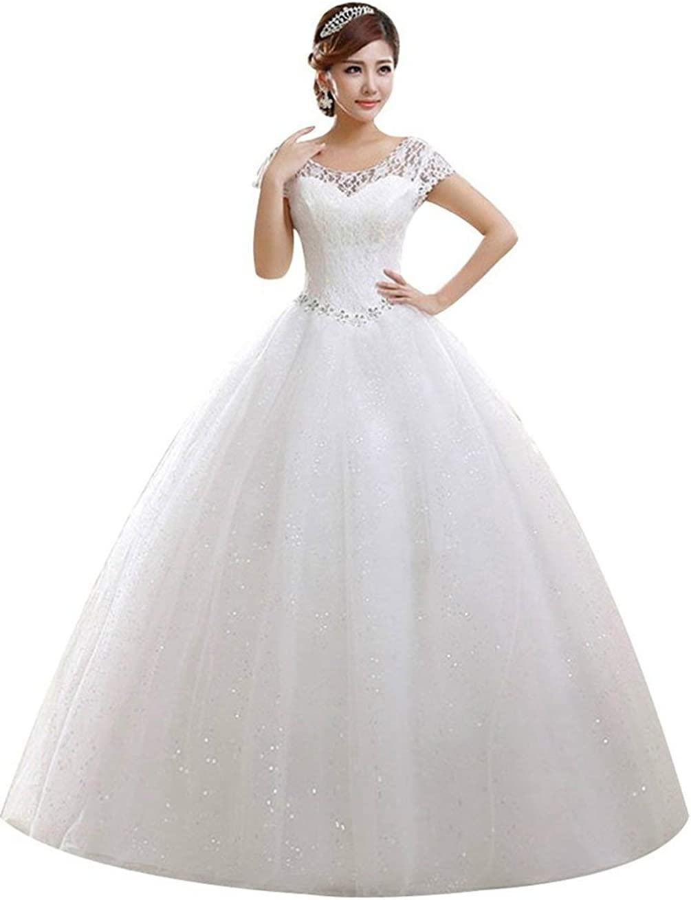 Clover Bridal 2019 Elegant Ranking TOP1 Jewel Scoop Capped Inexpensive Beaded Lace G Ball