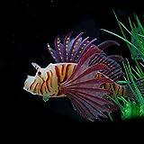 wufeng Paisajismo Acuario Decoración Fluorescente Simulación Resplandor Fluorescente pez león león Peces Tropicales del Tanque de Pescados...
