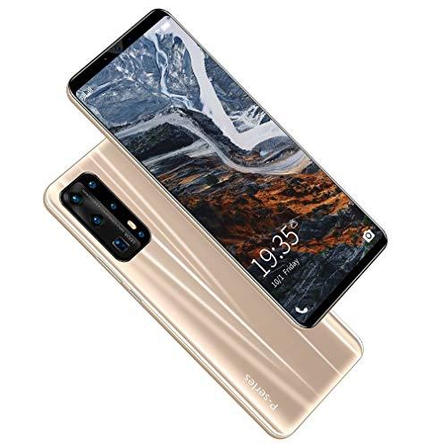 WXZQ P43 Pro 5.8 Pulgadas de Alta definición, Pantalla Completa, teléfono Inteligente 4G + 64G, reconocimiento de Huellas Dactilares, teléfono móvil Dual Sim, Dorado, UE