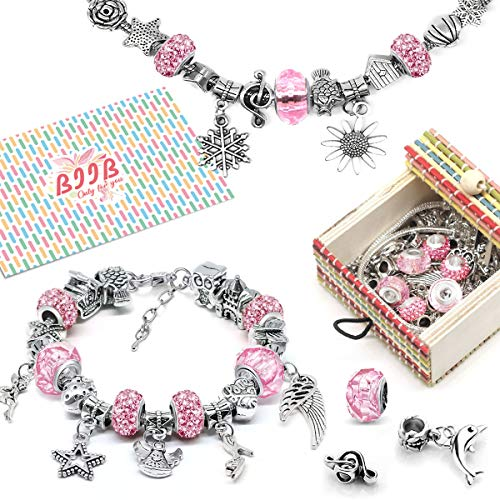 BIIB Gifts for Teenage Girls - Girls Charm Bracelet Making Kit, Girls Jewellery Making Kits for Kids, Girls Gifts for 8-12 Year Old Girls, Diy Arts and Crafts for Kids, Top 2020