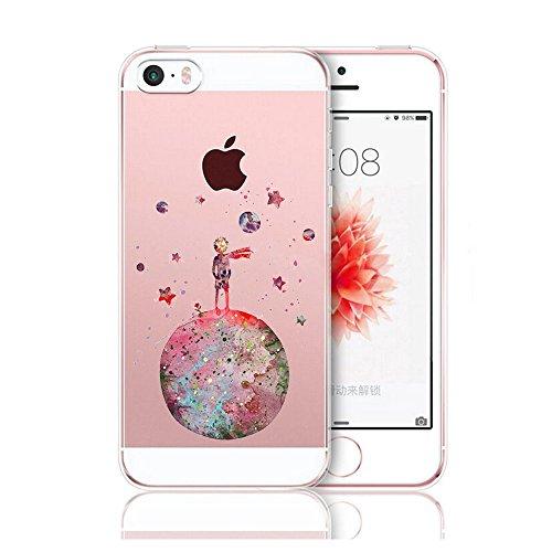 Caler cover per iPhone SE / 5/ 5S, protezione trasparente per Smartphone, ultra sottile, in silicone, antiurto.