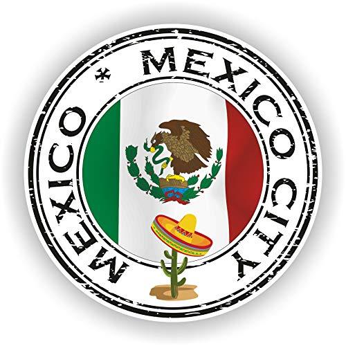 1 adhesivo impermeable de vinilo redondo de México, 30 cm