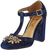 EL CABALLO Zhi0774, Zapatos Mujer, Azul, 37 EU