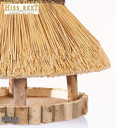 Vogelhaus mit Reetdach Futterhaus Futterstation -74 cm- traditionell eingedeckt - 3