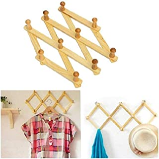 Trend products Bamboo Wooden Expendable Peg Reg - Wall Mounted Coat Rack-Wooden Expendable for Coats,Hats,Caps,Scarves,Sweaters,T Shirts & Lower Hanging -Wall Rack