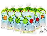 Bolsas de comida para bébés reutilizables (pack de 6), sin BPA | fácil de...