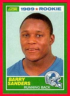 Barry Sanders 1989 Score Football Rookie Reprint Card (Lions)
