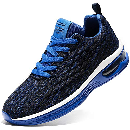 Damyuan Running Shoes Men's Air Cushion Athletic Gym Tennis Shoes Sneakers Lightweight Walking Shoes Blue