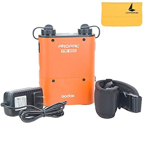 GODOX PB960 Propac 4500mAh Flash Power Battery Pack Kit with Dual Output for GODOX AD360 AD180 Flash Canon 580EX II, 580EX, 550EX, Nikon SB-900 SB-800 SB-80DX, Sony HVL-F58AM HVL-F43AM, Metz Flash