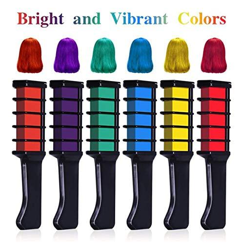 Sylvialuca Einweg Mini Haarfarbe Kamm Haarfärbemittel Mode Farbe Halloween Party Karneval Haarkamm