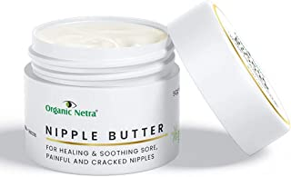 Organic Netra® Nipple Butter – Organic Lanolin-Free Breastfeeding Nipple Cream Enriched with Natural and Vegan Ingredients...