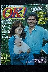 OK ! âge tendre 44 novembre 1976 * SYLVIE Poster dédicacé Rubettes CHARDEN Pierre PERRET JOHNNY